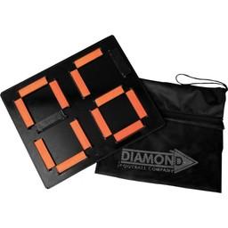 Diamond Footbal Wisselbord tweezijdig afleesbaar: met Rugnummer ingaand en uitgaand