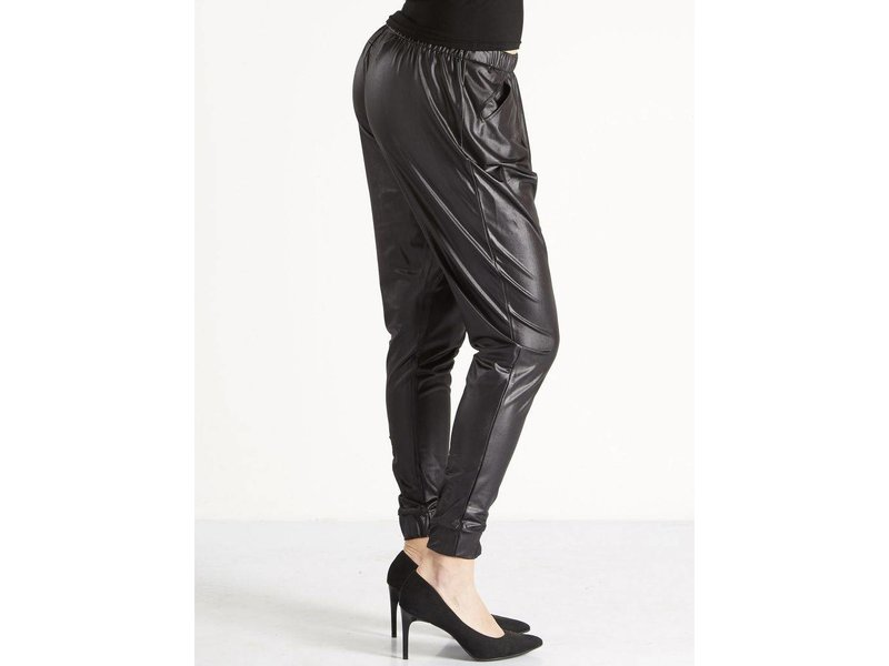 NÜ Denmark Baggy leatherlook broek