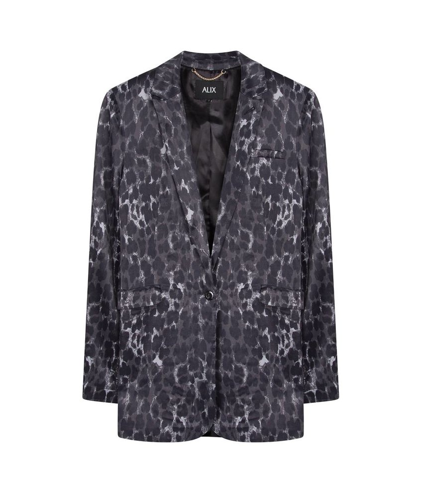 Alix The Label Animal satin blazer
