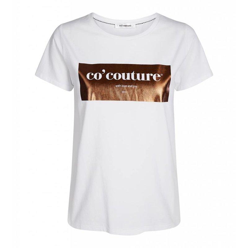 Co'couture Laurel foil tee