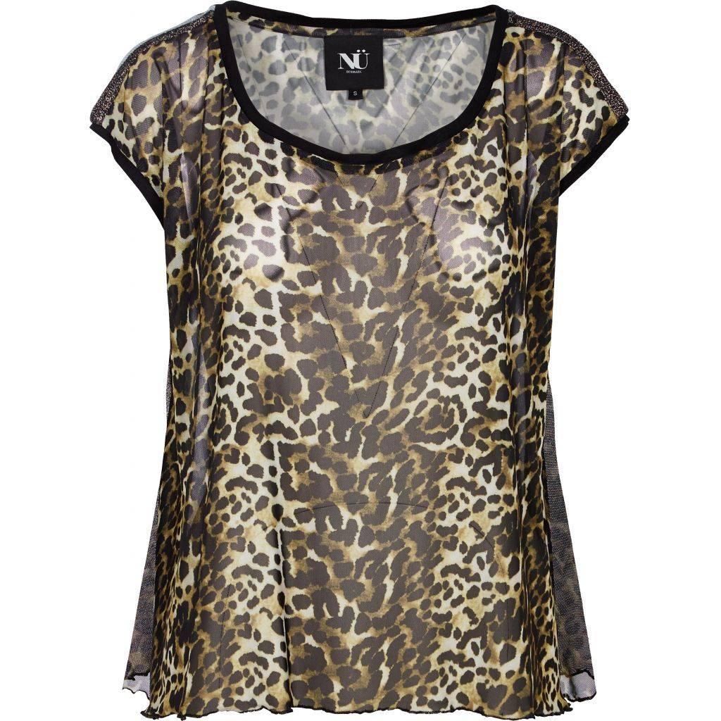 NÜ Denmark Animal mesh blouse