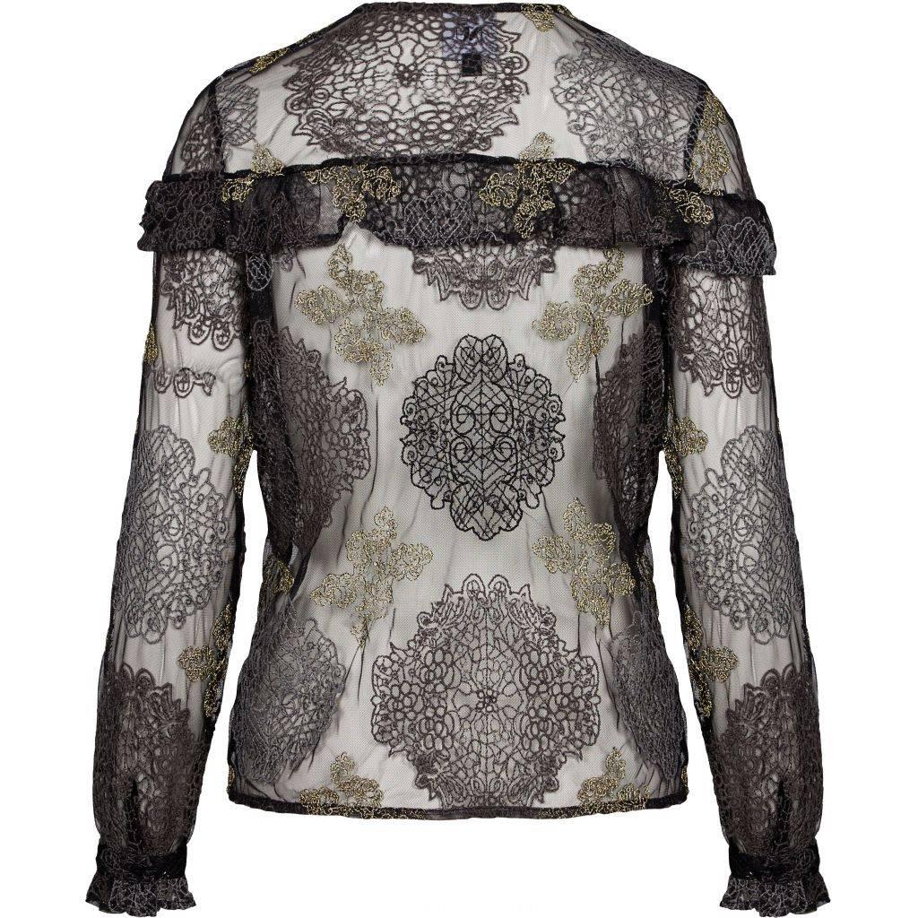 NÜ Denmark Kanten blouse met embroideries
