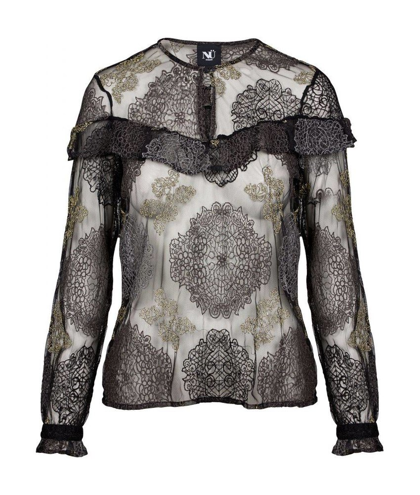 NÜ Denmark Kanten blouse met embroideries