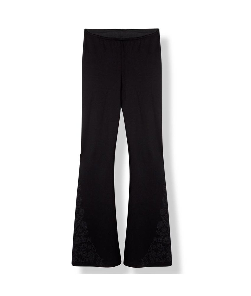 Alix The Label Emboidered flare pants