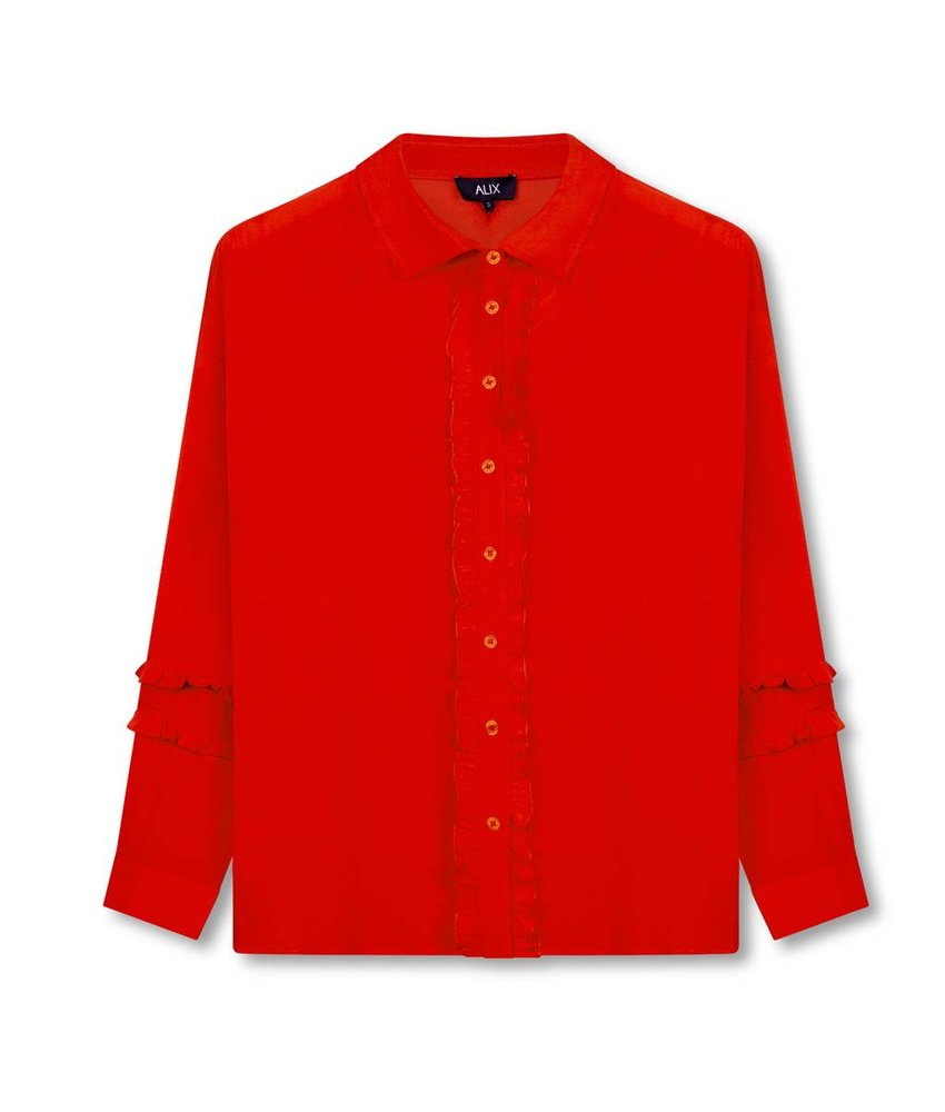 Alix The Label Ruffle blouse (rood)