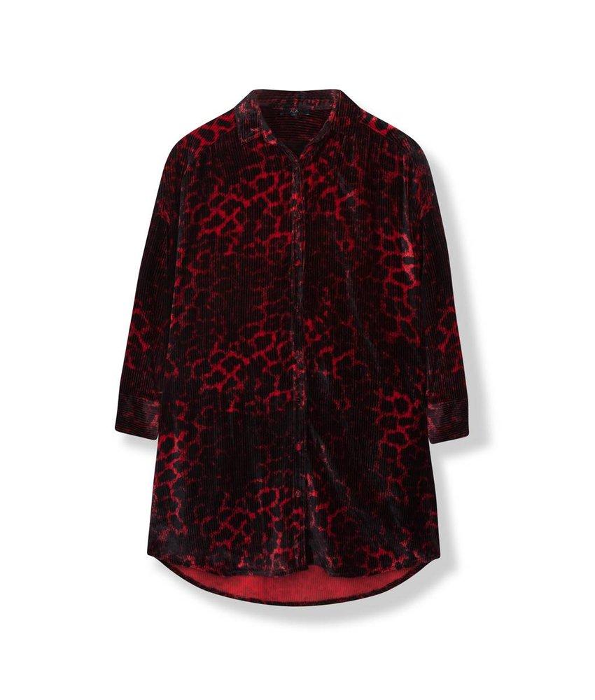 Alix The Label Animal rib velvet blouse