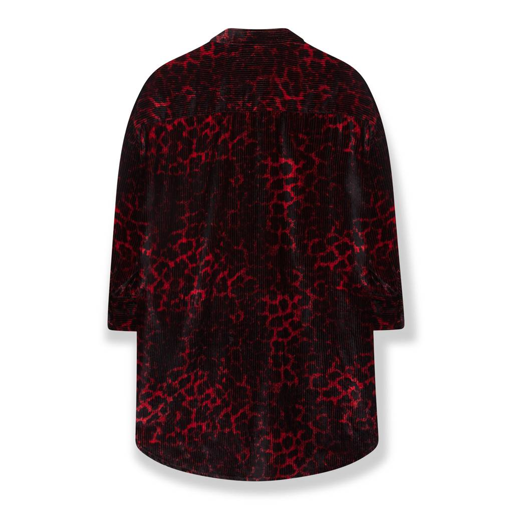 Alix The Label Animal rib velvet blouse