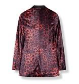 Alix The Label Animal velvet blazer