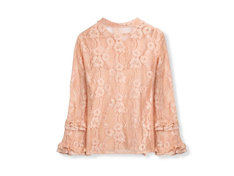 Alix The Label Lace blouse (soft nude)