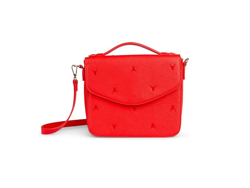 Alix The Label Leather look small bag (rood)