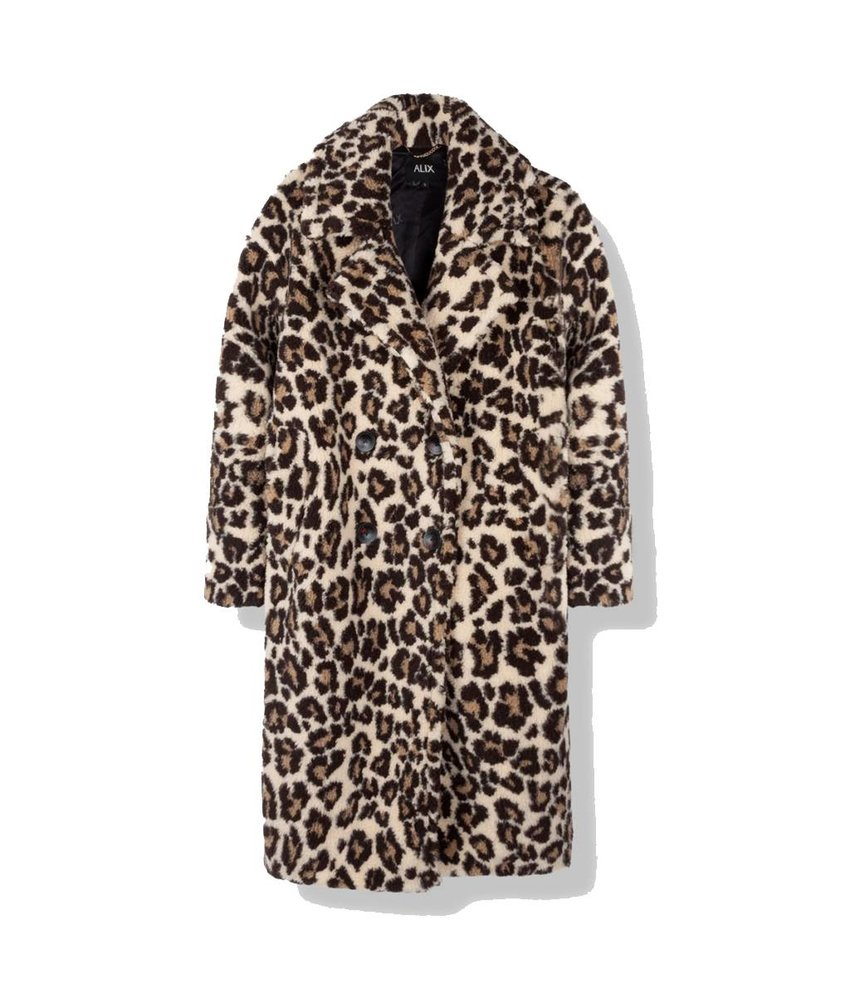Alix The Label Animal teddy coat