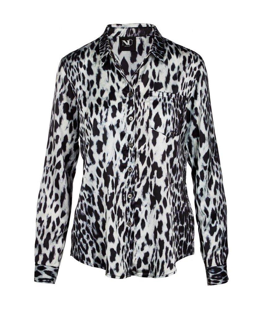 NÜ Denmark Blouse met leopard print