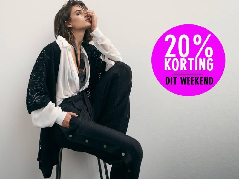 Ontvang 20% korting op najaarskleding dames!