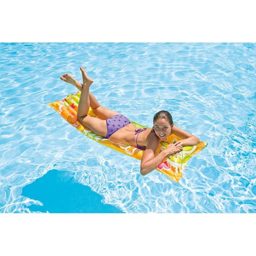 Intex bloemen luchtbed voor in zwembad verkrijgbaar in meerdere kleuren!-3