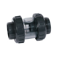 thumb-PVC terugslagklep Praher s6 63mm transparant-1