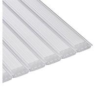 Aquadeck Lamellen polycarbonaat transparant per m2