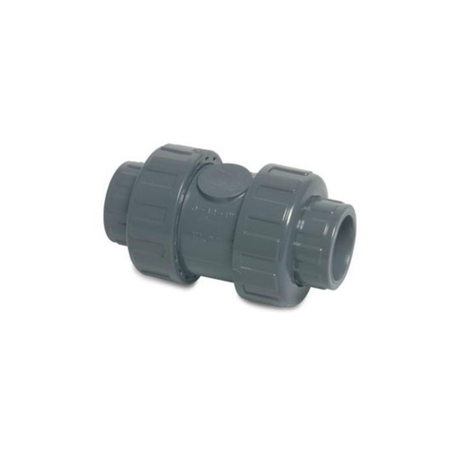 50 mm PVC terugslagklep veerbelast-1