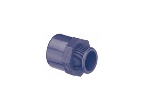 PVC puntstuk recht met 6-kant 63/75MM x 1 1/2''