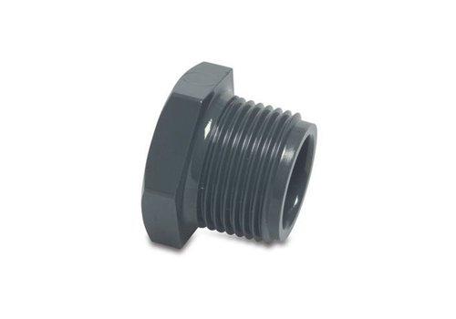 1/2'' PVC plug met draadaansluiting