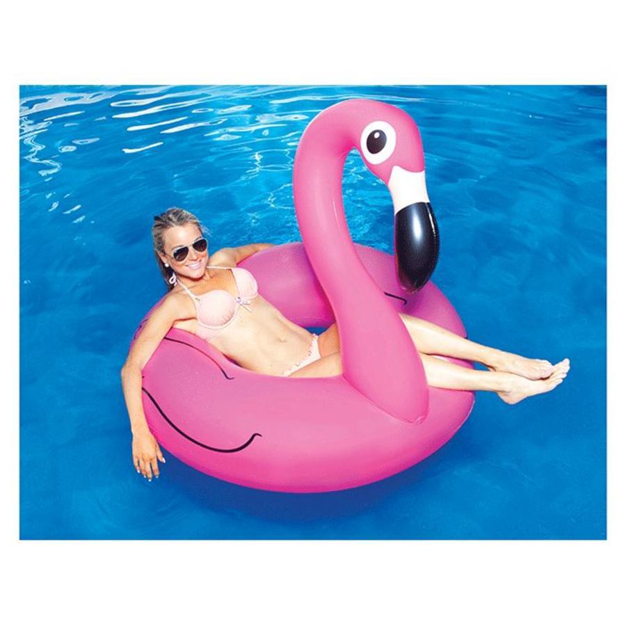 Opblaasbare flamingo roze-1
