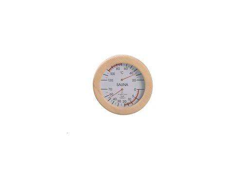 Hygro- en thermometer sauna rond
