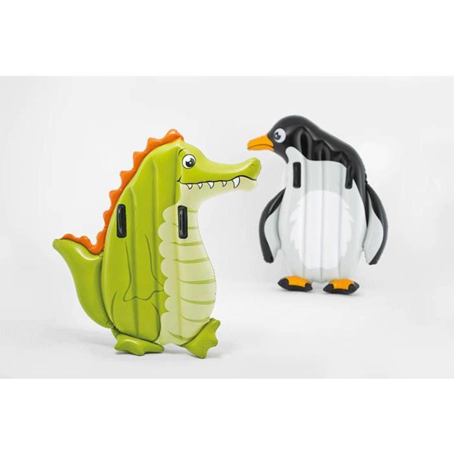 Luchtbed kids pinguin met handgrepen-1