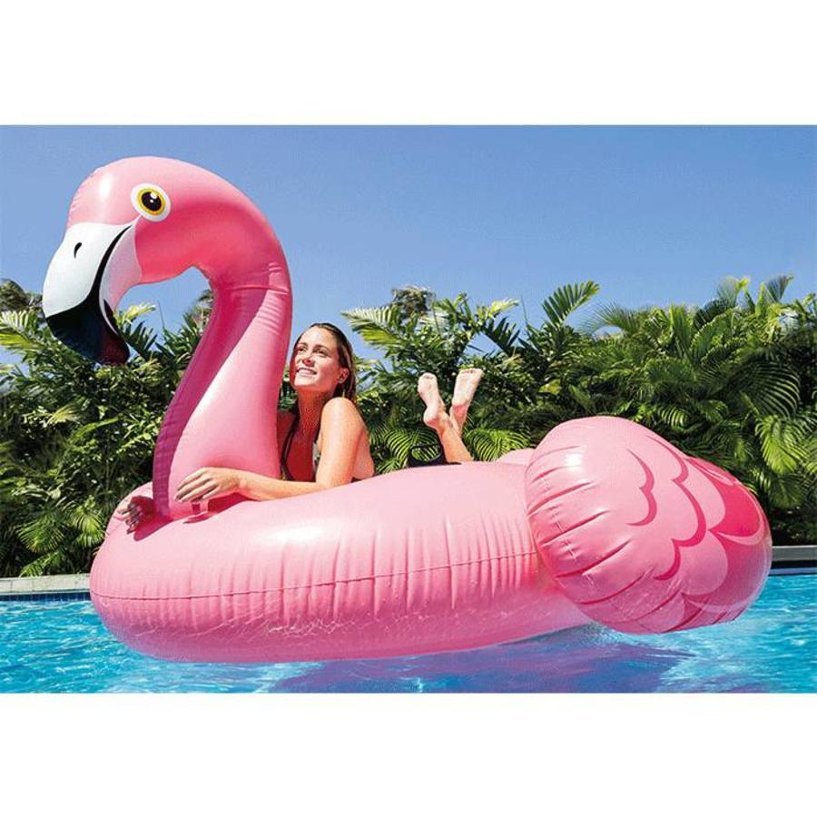 Intex mega opblaasbare flamingo island float 218 cm-3