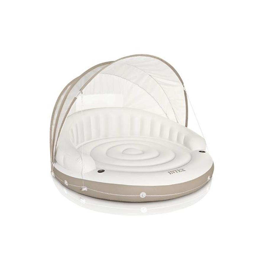 Intex canopy island - opblaas bed-1