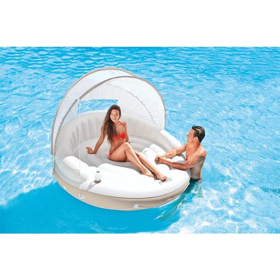 Intex canopy island - opblaas bed-2