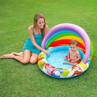 thumb-Intex Winnie the Pooh baby pool met overkapping-2