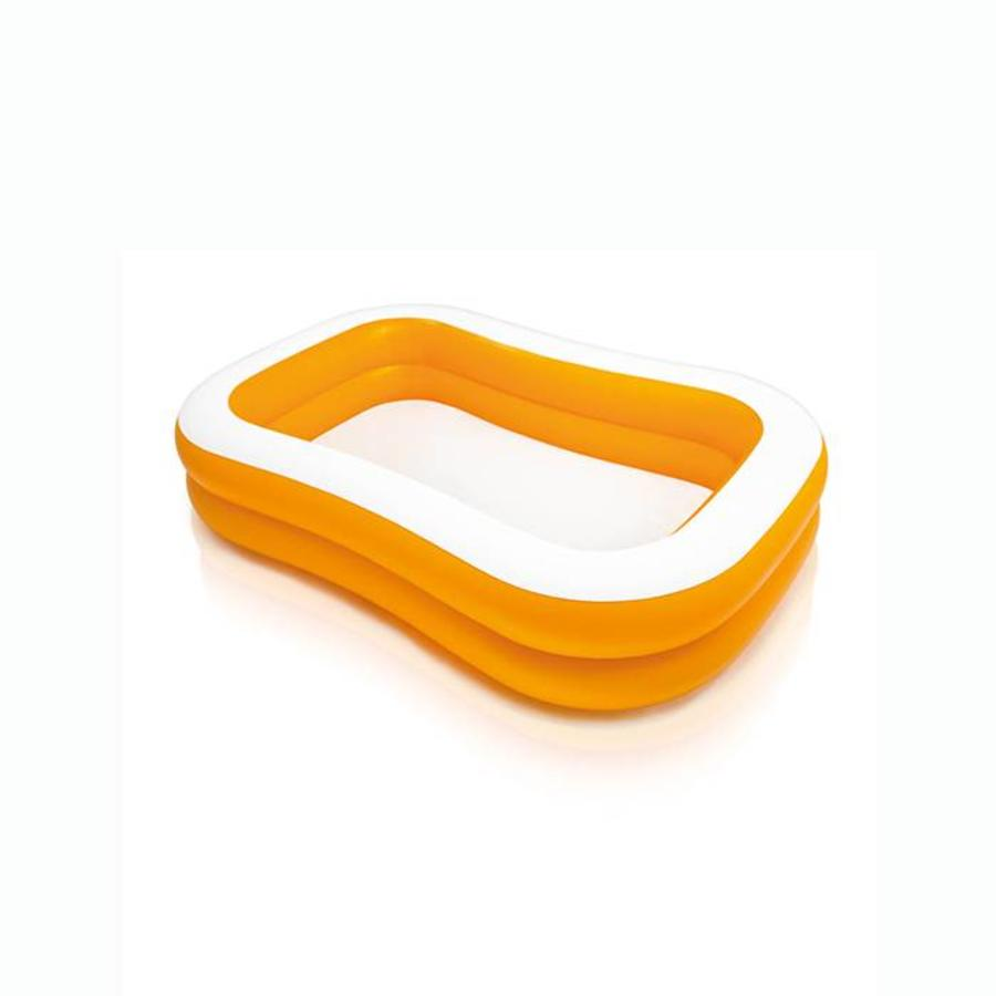 Intex oranje familiezwembad (229cm x 147cm x 46cm)-1