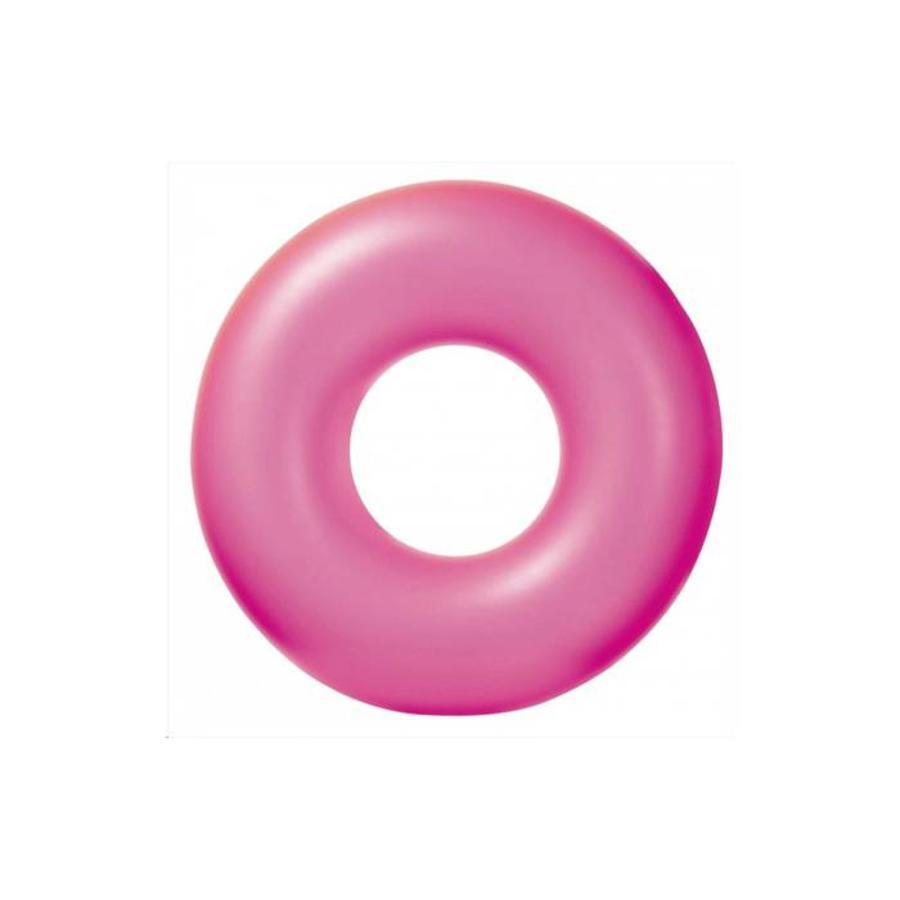 Intex neon opblaarbare zwemband geel, roze en oranje-1
