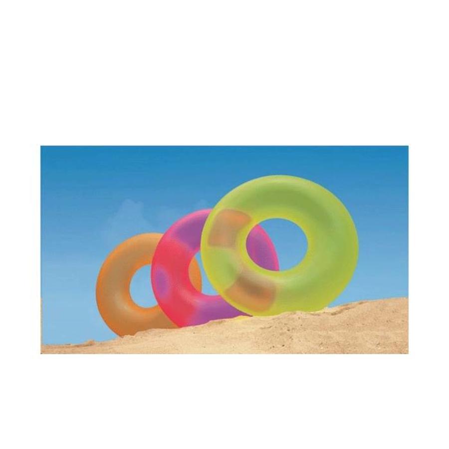 Intex neon opblaarbare zwemband geel, roze en oranje-2