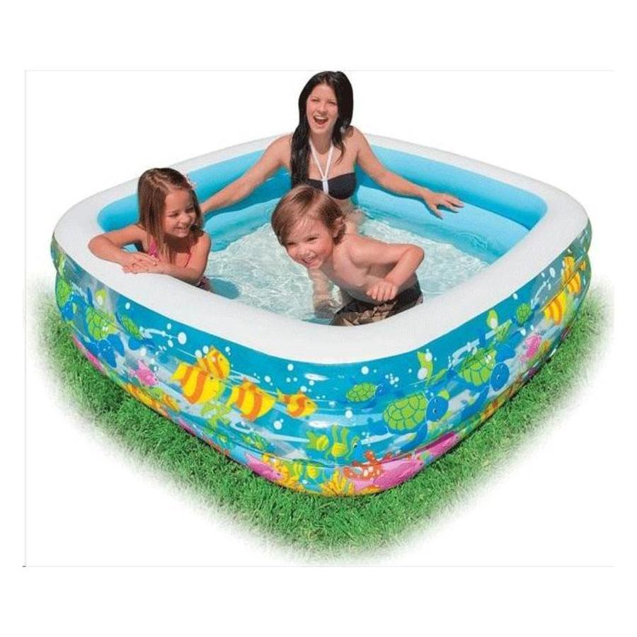 Intex swim center aquarium zwembad (159cm x 159cm x 50cm)-2
