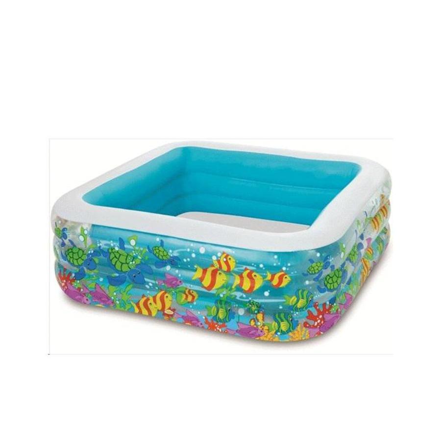 Intex swim center aquarium zwembad (159cm x 159cm x 50cm)-1
