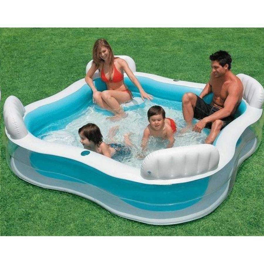 Intex familie lounge zwembad (229cm x 229cm x 66cm)-2
