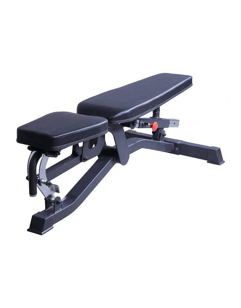 Lifemaxx adjustable bench l black