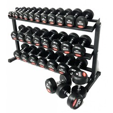 PTessentials PRO Ronde Rubberen Dumbbells | Set 2 t/m 30 kg - verwacht eind april/begin mei