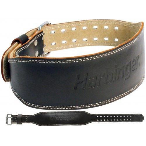 Harbinger 4 Inch Padded Lederen Gewichthefriem