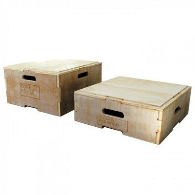 PTessentials Corepower Houten Stapelbare Plyo Boxes 20 of 30,5 cm