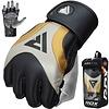 RDX Sports T17 Aura Grappling Gloves | MMA - Zwart/goud