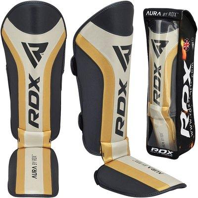 RDX Sports T17 Aura-scheenbeenbeschermers Zwart/goud