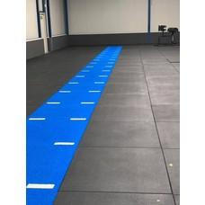 PTessentials 100x100x2 multiplay kunstrgras met streep - blauw