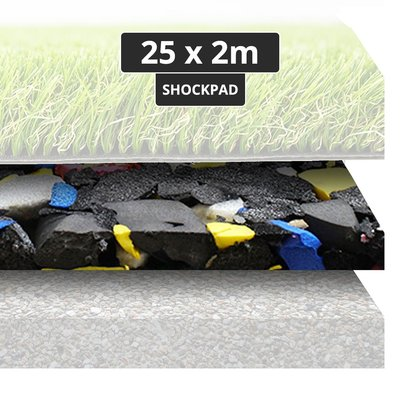PTessentials Shockpad op rol 25 x 2 meter - 1 cm dikte