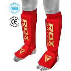 RDX Sports Hosiery Shin Instep Foam Rood