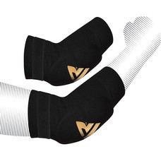 RDX Sports HY Elleboog pads zwart-goud