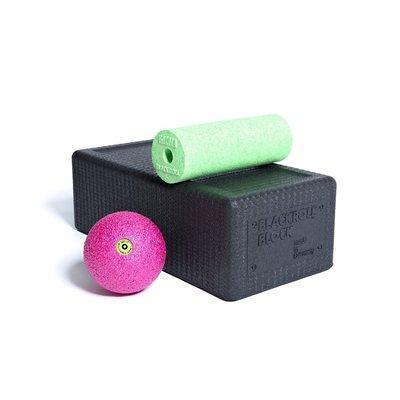 Blackroll BLOCK SET Zwart, Groen, Roze - Yogablok met fascia
