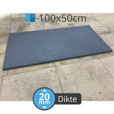 PTessentials High Density 1050 kg/m3 crossfit tegel 100x50 cm  - Grijs