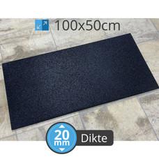 PTessentials High Density 1050 kg/m3 crossfit tegel 100x50 cm  - Zwart