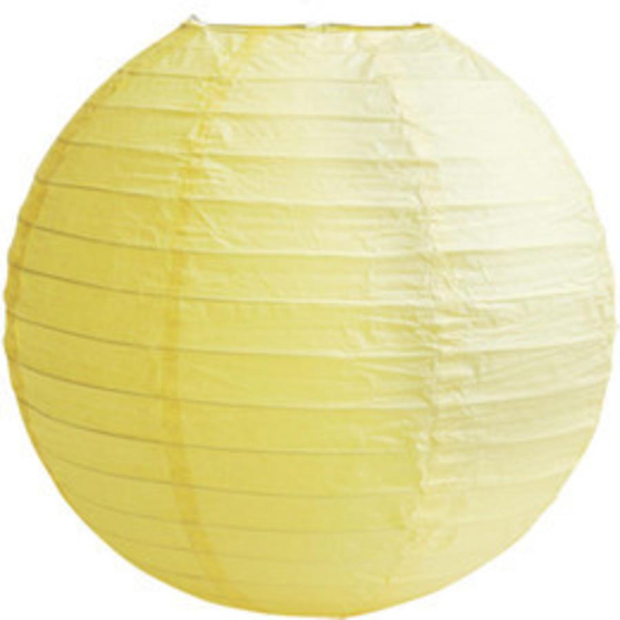 Lampion geel diameter 20 cm (2 stuks)-1